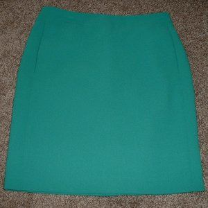 J. Crew The Pencil Skirt Turquoise Green